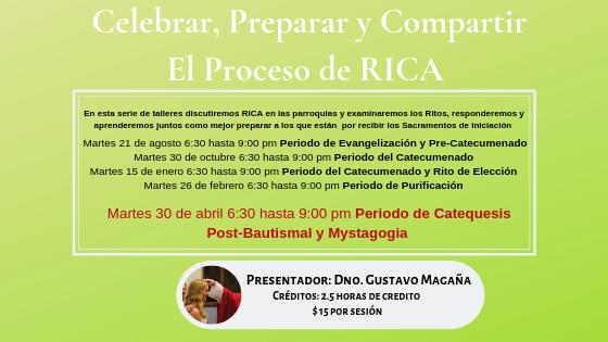 Celebrar, Preparar y Compartir El Proceso de RICA