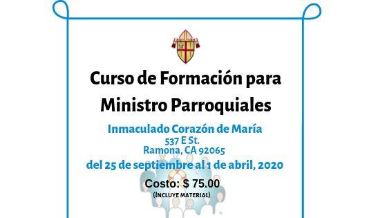 Curso de Formación para Ministros Parroquiales en Inmaculado Corazón de María